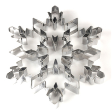 Stainless steel Christmas snowflake Shaped  Mold Biscuit Tools Cookie Cake Mold Jelly Pastry Baking Cutter Mould Tool christmas tree cookies cutter stainless steel biscuit cake mold baking tools