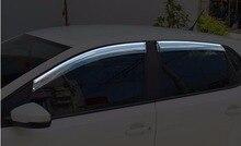 For VW Volkswagen Polo 2014 2015 2016 2017 Window Visor Sun Rain Wind Deflector Awning Shield Vent Guard Shade Cover Trim 4PCS
