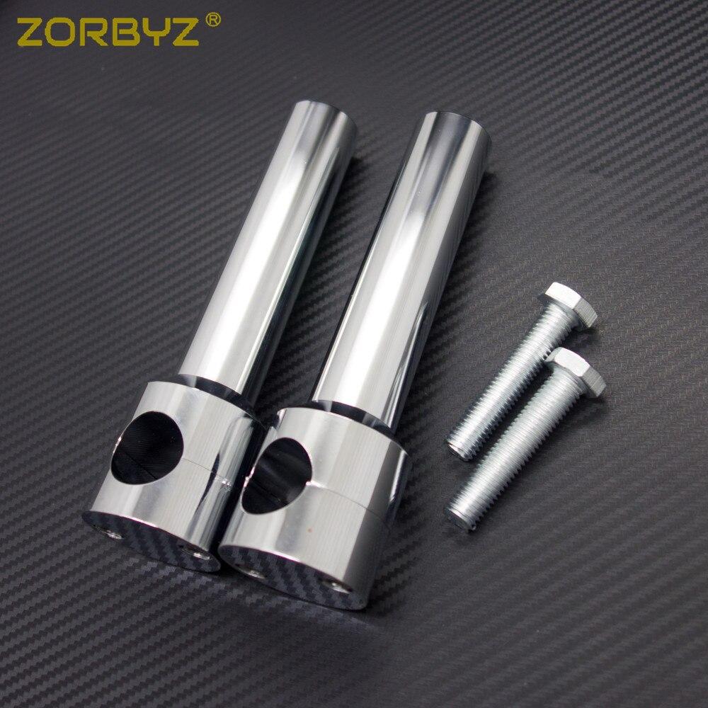 ZORBYZ Chrome 1 25mm HandleBar Risers Handle Bars For Harley Suzuki Honda Yamaha Ducati