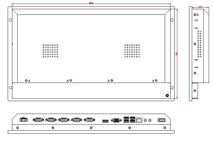 6U állványra szerelt számítógép, 12,1 hüvelykes LCD, J1900 - Ipari számítógépek és tartozékok - Fénykép 3