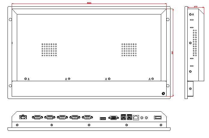 6U rackmontagecomputer, 12,1 inch LCD, J1900 CPU, 4 GB RAM, 500 GB - Industriële computers en accessoires - Foto 3