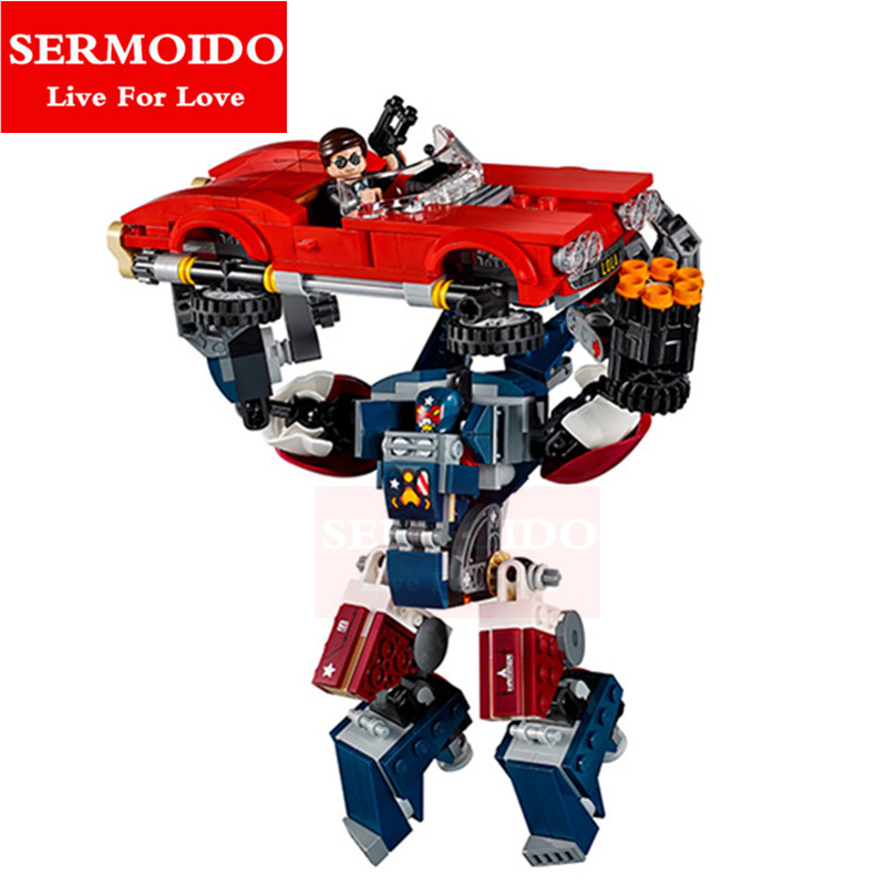 SERMOIDO 417pcs Spider-Man Batmobile Super Heroes AVENGERS Assemble Building Blocks Bricks Kids Toys Childern Gift B271