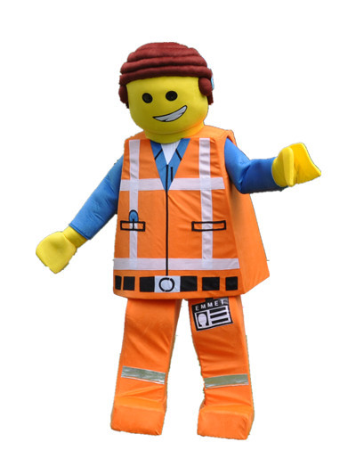 2015 Emmet Lego Mascot Costume Movie LEGO cartoon - buycostumes store