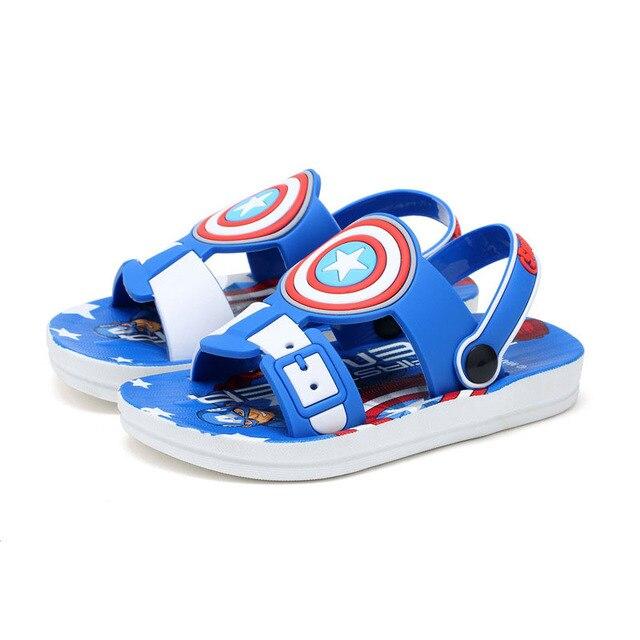 Причинно мальчик тапочки сандалии обувь симпатичные человек-паук дом тапочки обувь для 3-7yrs мальчики дети дети ванна сандалии горячие