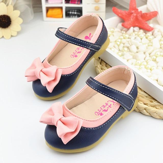 500a34e6466f4a New Bowknot Children Shoes Girls Princess Shoes Fashion Kids Sandals  Designer Single Shoes Summer Beach Non-slip Sandals