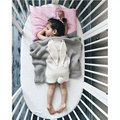 105*75 Baby Blanket Pink White Cute Rabbit Gray For Bed Sofa Wool blanket Cobertores Mantas BedSpread Bath Towels Play Mat Gift