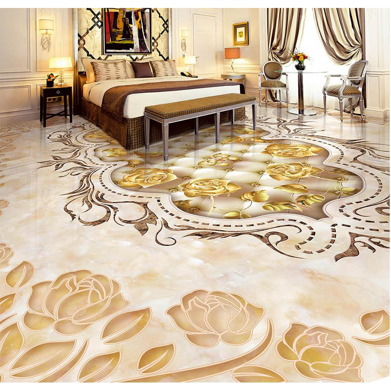 hotel floor 3d parquet tiles photo floor sticker wallpaper. Black Bedroom Furniture Sets. Home Design Ideas