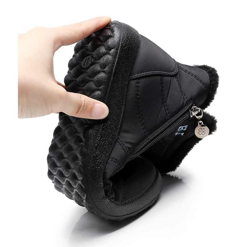 2019 Phụ Nữ Giày Chống Nước Mùa Đông Nữ Giày Cặp Đôi Unisex Ủng Lông Ấm Áp Chống Trượt Đáy Giữ Ấm Mẹ Boot Casual