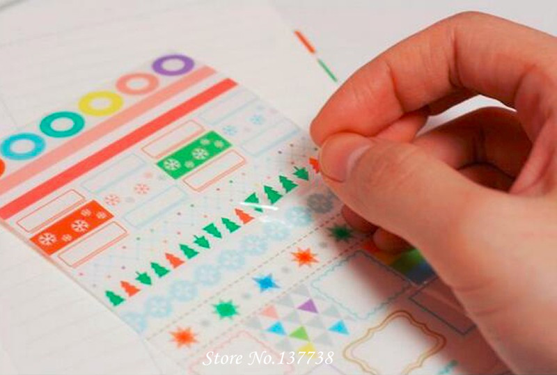 Hot Sale 6 lembar / set Baru Kawaii Rainbow Mercado Sticker - Mainan klasik - Foto 4