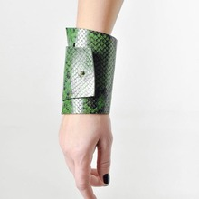 New Luxury Punk Leather Leopard Charm 3 Color Bracelets & Bangles Elegant Wrap Wide Bracelet Jewelry