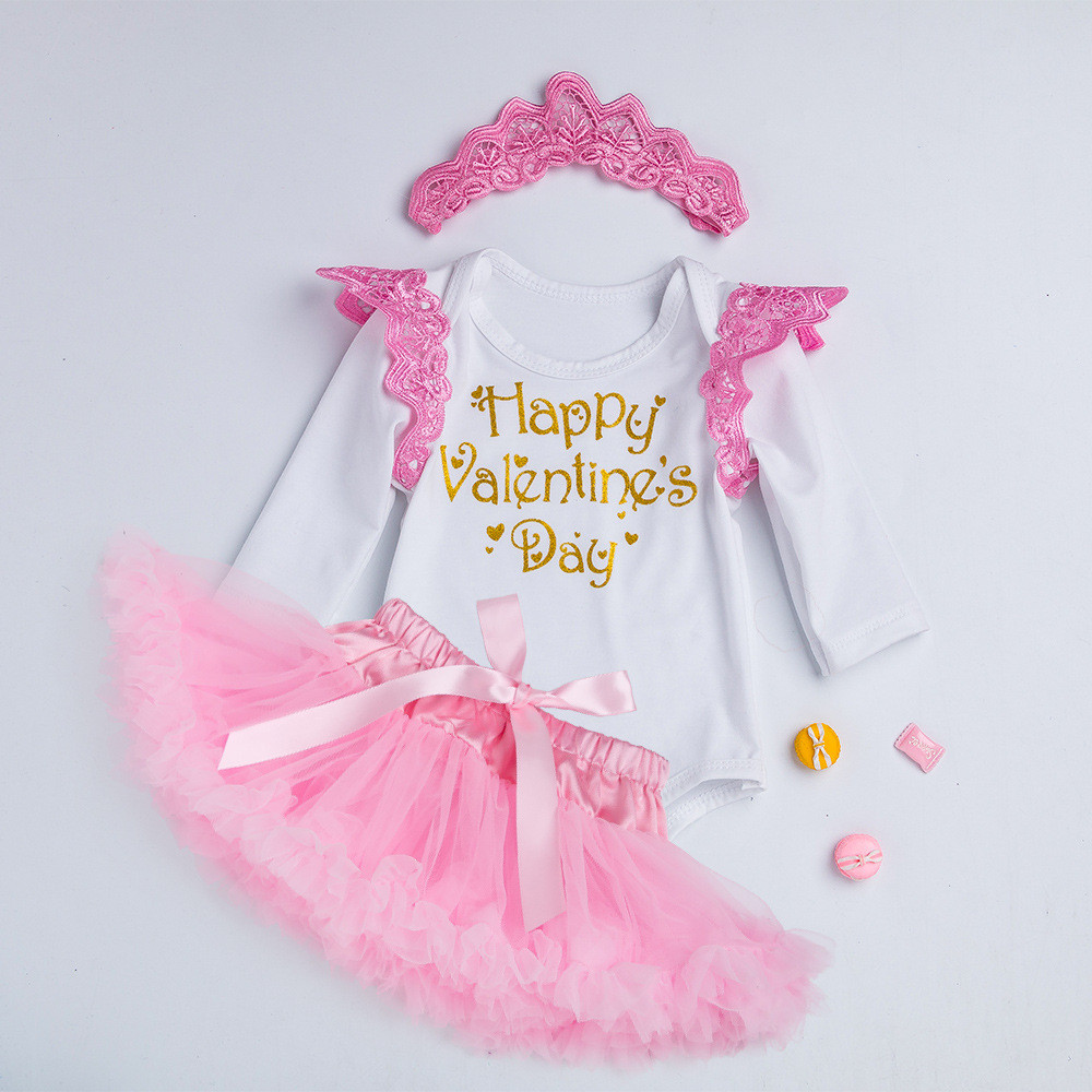 Spring children's clothing 0-2 years old female baby Valentine's Day dress skirt suit Christmas Halloween costume