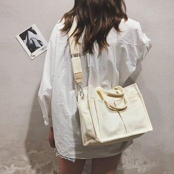 2019 New Canvas Bag Reusable Shopping Bags Grocery Tote Bag Cotton Daily Use Handbags Women Casual Handbag
