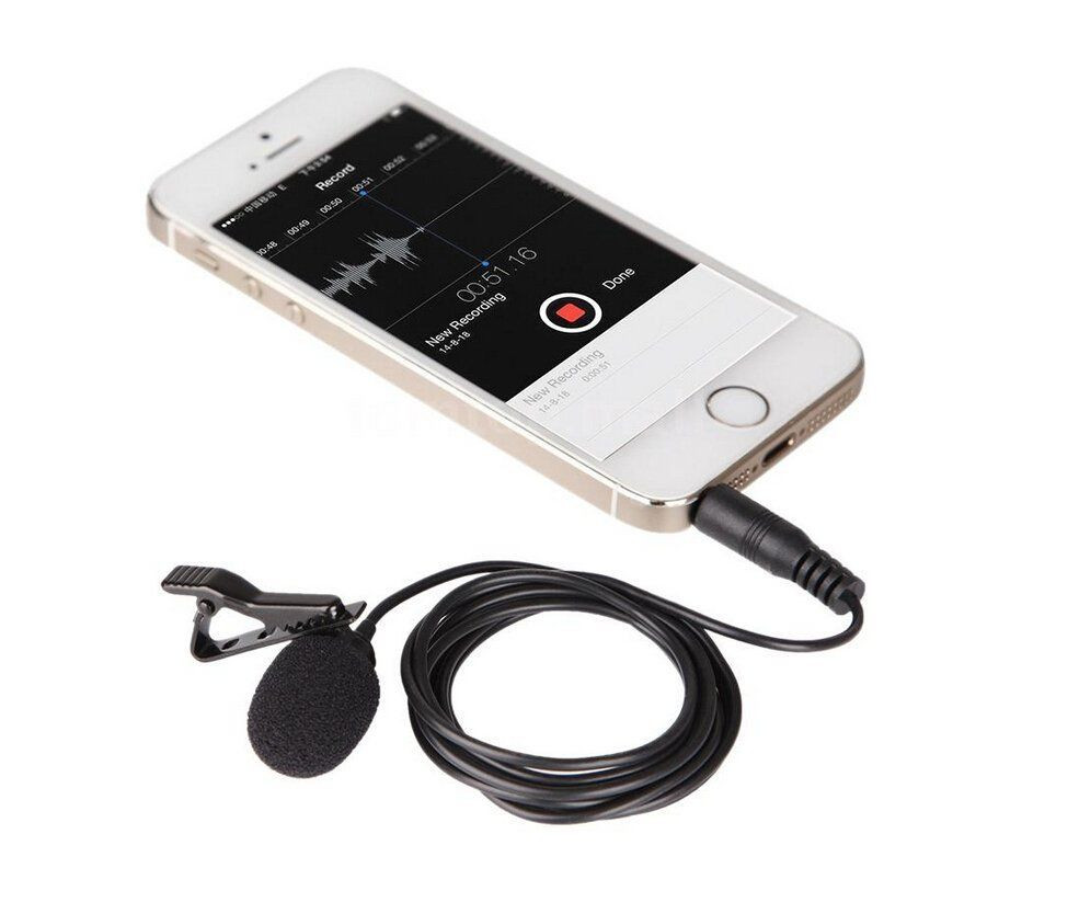 BOYA BY-LM10 Smartphone Omnidirectionnel Cravate Microphone pour iPhone 6 6 s 5 4S Sumsang S6 S5 S4 HTC