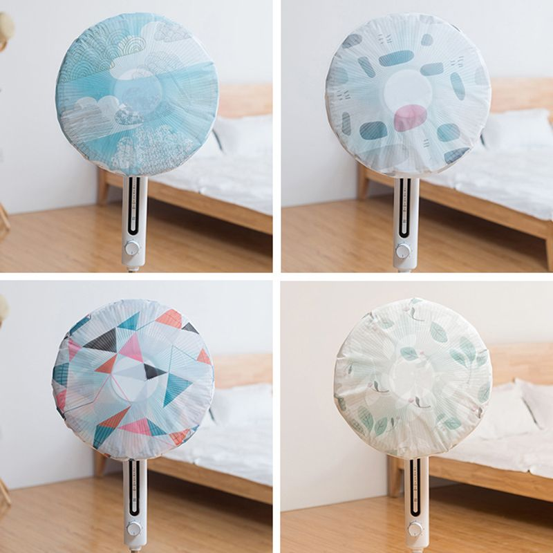 45cm Printing Sunscreen Fan Dust Cover Proof Waterproof Folding Protective Electric Fan Covers Or Hotel Home Using Home