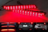 Red Lens 24 LED Bumper Reflector Tail Brake Stop Light Fog For Acura TSX Wagon Insight