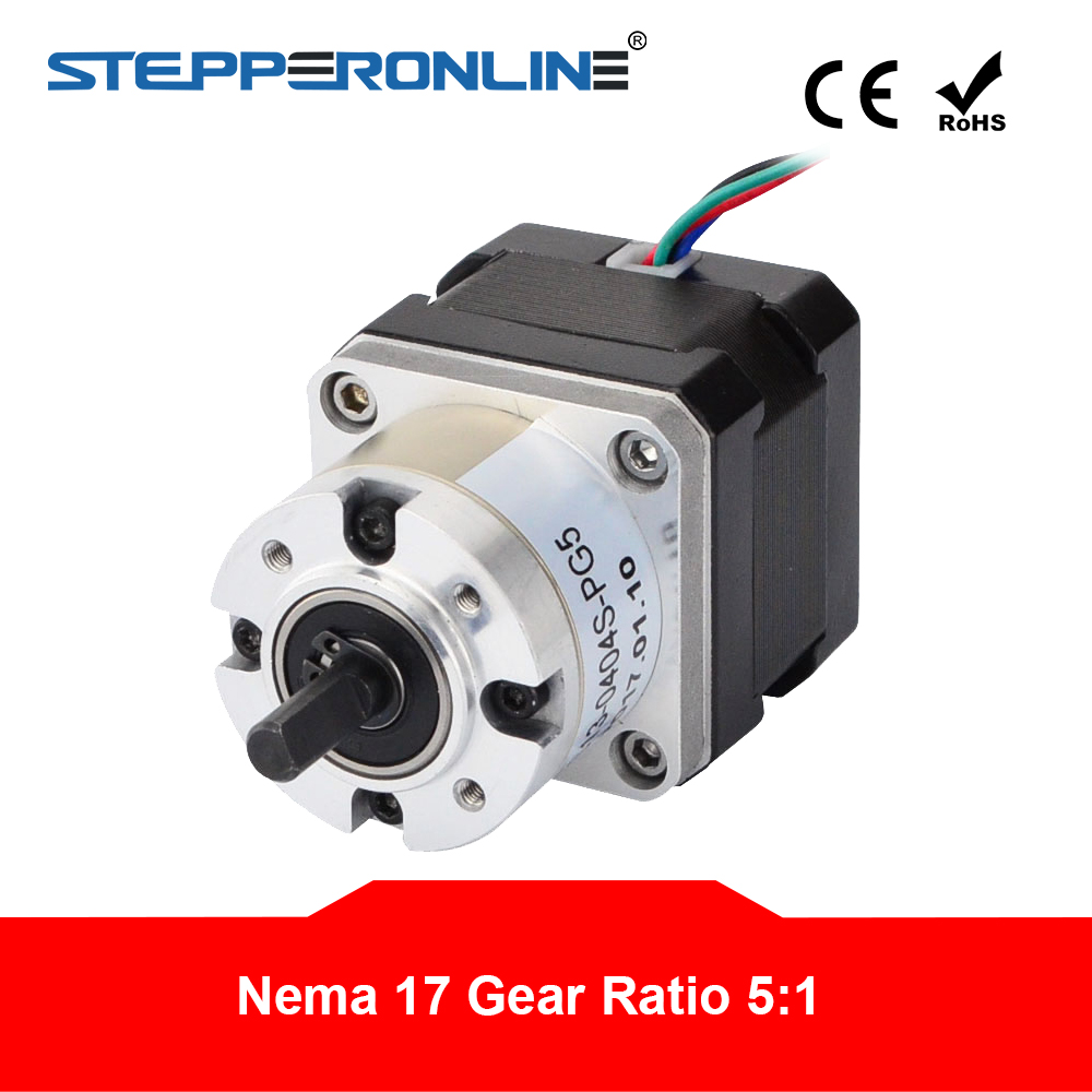 5:1 Planetary Gearbox Stepper <font><b>Motor</b></font> <font><b>Nema</b></font> <font><b>17</b></font> <font><b>Gear</b></font> Stepper <font><b>Motor</b></font> 0.4A for DIY CNC Robot 3D Printer 17HS13-0404S-PG5 image