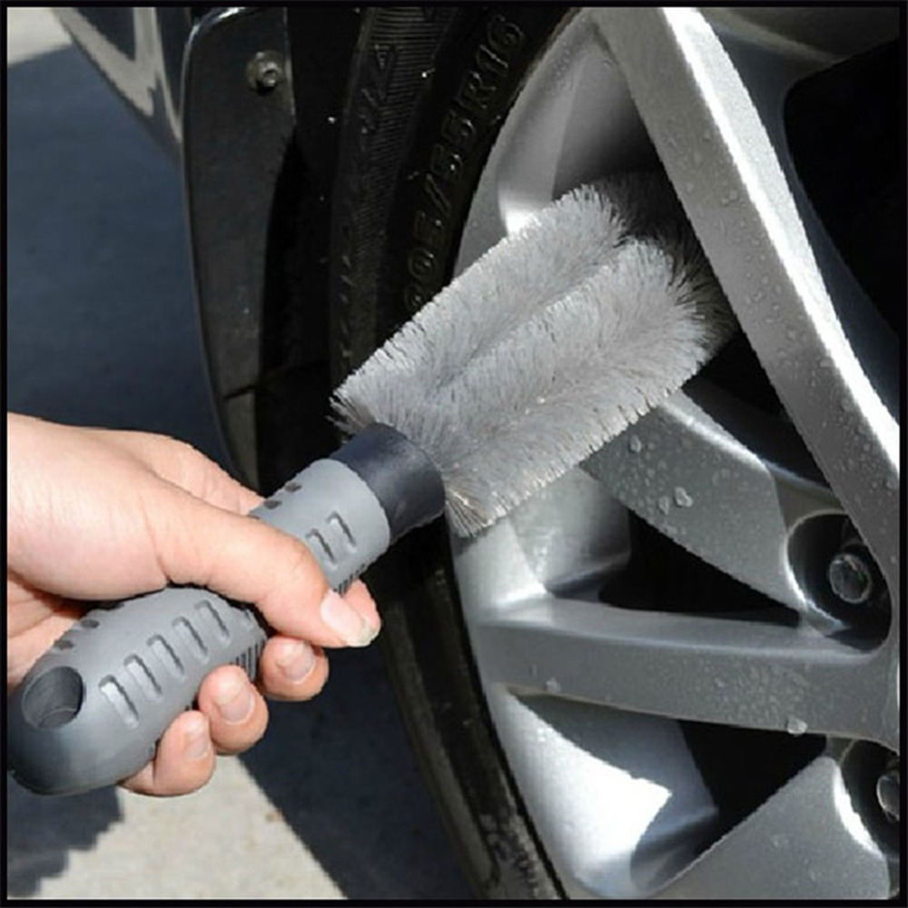 Car Auto Motorcycle Car Wash Tire Brush Dust Cleaner Cleaning Tool Wheel Clean For Audi Nissan BMW