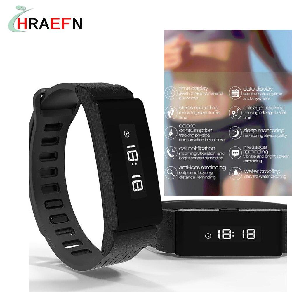 Hraefn bluetooth smart band W6 Pulsera inteligente fitness tracker watch sport bracelet for Android xiaomi huawei