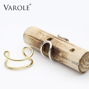 Image 3 - VAROLE New Style Gold Color Cuff Bracelets & Bangles Women High Quality Stainless Steel Bracelet Love Bangle Jewelry