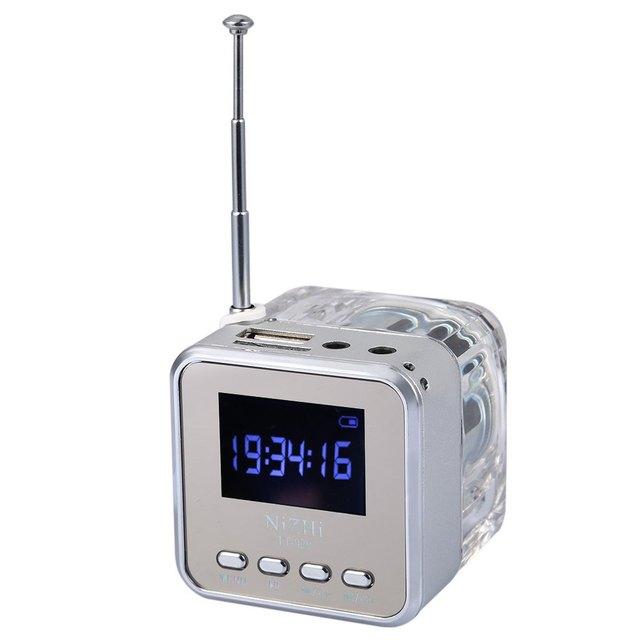 Venda quente! venda quente Venda Quente NIZHITT029 Mini Piscando Orador Cartão Portátil HiFi Altifalantes Multimedia Rádio FM Digital Campi