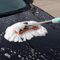 High Quality Car Adjustable Telescopic Cleaning Wiping Soft Milk Silk Mop Wash Brush Tool