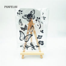 PANFELOU butterfly vines Transparent Clear Silicone Stamp/Seal DIY scrapbooking/photo album Decorative clear stamp sheets(China)
