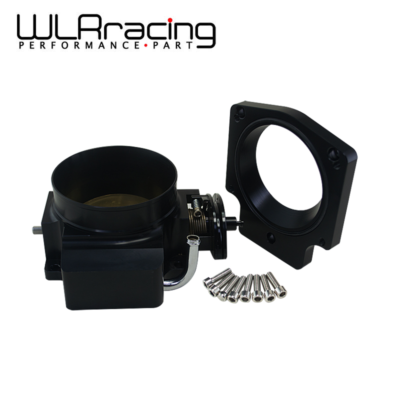 WLRING STORE- 92mm Throttle Body +Manifold Adapter Plate for LS LS2 LS3 LS6 LS7 LSX BLACK WLR6937+TBS41