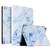 For New iPad 2017 2018 Smart Voltage Case Marble Pattern PU Material Support Protective Cover For iPad Air 1 Air 2 Case стоимость