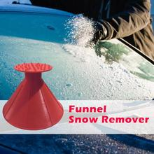 VODOOL Car Styling Outdoor Round Ice Scraper Car Windshield Snow Scraper Funnel Shovel Cone Shaped Winter Car Tool Snow Remover retractable handle snow shovel snow brush car cleaning winter car auto ice scraper car suv truck rotatable brush car acessorie