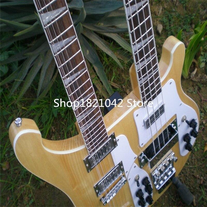 top quality rick 4003bass guitar double neck electric guitar 4 string bass 12 string guitar log. Black Bedroom Furniture Sets. Home Design Ideas