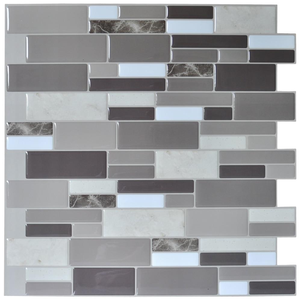 ... 12u0027u0027x12u0027u0027 Peel And Stick Tile Brick Kitchen Backsplash Wall Tile Stone