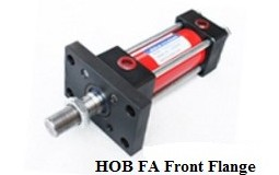 Tie rod hydraulic oil cylinder with 14MPA HOB80X100FA with front flange portable hydraulic flange expanders yq 50 13 59mm 12t