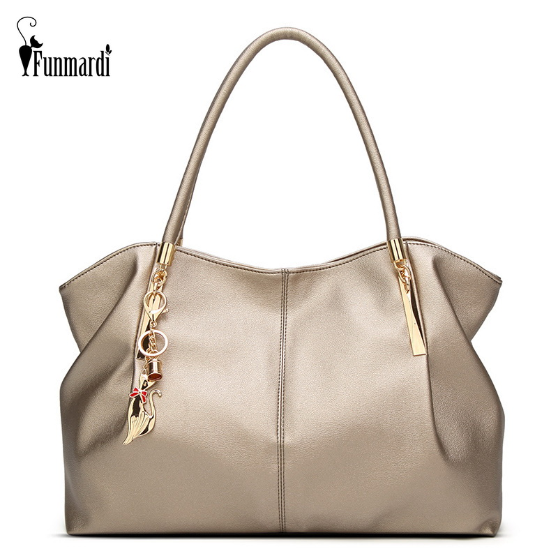 FUNMARDI 2019 Luxury Women Handbags PU Leather Women Bags Brand Designer Top-handle Bag Ladies Shoulder Bag Female Bag WLHB1778(China)