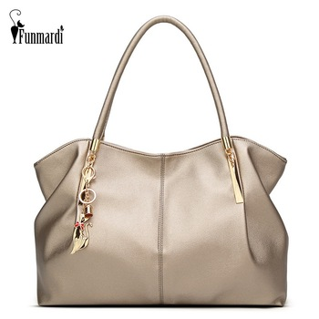FUNMARDI New Fashion Big Women's Handbags Luxury PU Leather Women Bags Brand Design Ladies Shoulder Bag Tote Female WLHB1778