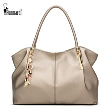 FUNMARDI New Fashion Big Women's Handbags Luxury PU Leather Women Bags