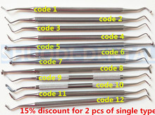 1 Pcs Composite Dental Filling Instrument Filler Spatula Amalgam Plastic Double Ends Stainless Steel