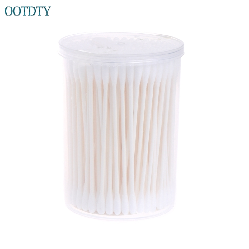 High Quality 180Pcs Baby Swabs Cotton Double End Swab Disposable Thin Stick Cleaning Tools #330