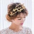 Coreano temperamento doce noiva sub Libélula de ouro coroa tipo grande hoop cabelo acessórios vestido