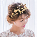 Korean sweet temperament bride sub golden Dragonfly crown large hoop type hair dress accessories