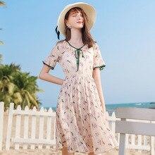 AcFirst Summer Khaki Chiffon Lace Women Dress Long Dresses Ruffles Holiday Sexy Sundress Sweet Lanon Layered