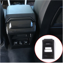Carbon Fiber Style For Land Rover Discovery Sport 2015 2016 ABS Rear Seat Air Conditioning Vent Frame Cover Trim Car Accessories цены