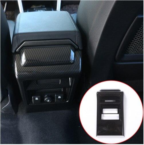 Fibre de carbone Style pour Land Rover Discovery Sport 2015 2016 ABS siège arrière climatisation cadre de ventilation garniture accessoires de voiture