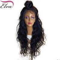Естественная волна шелк база парики Elva Синтетические волосы на кружеве человеческих волос парики предварительно сорвал бразильский Волос