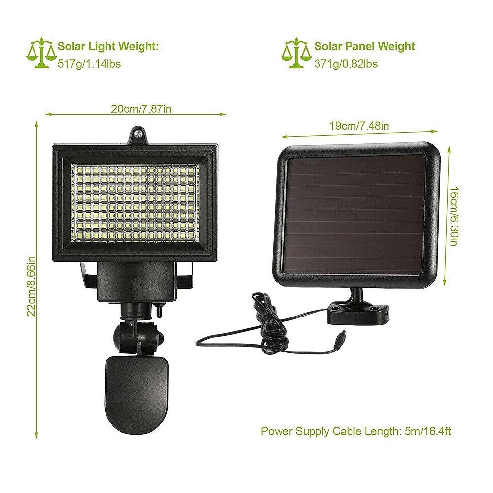 spotlight solar com detector de movimento pir-sensor