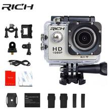 RICH Sports Camera HD 8MP Wifi 1080P Action Video Camera Underwater DV Mini Waterproof Sport helmet cameras Camcorder(China)