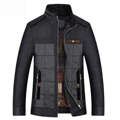 ФОТО Men's Down Cotton Jacket Parka Winter Long Sleeve Thicken Warm Men Coat Businrss Coat Men Slim Outwear Father Jacket A4297