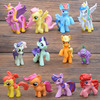 My Little Horse Action Figures 12pcs Set LUCKY PIGLET Princess Luna Cartoon Pets Horse Unicorn Toy