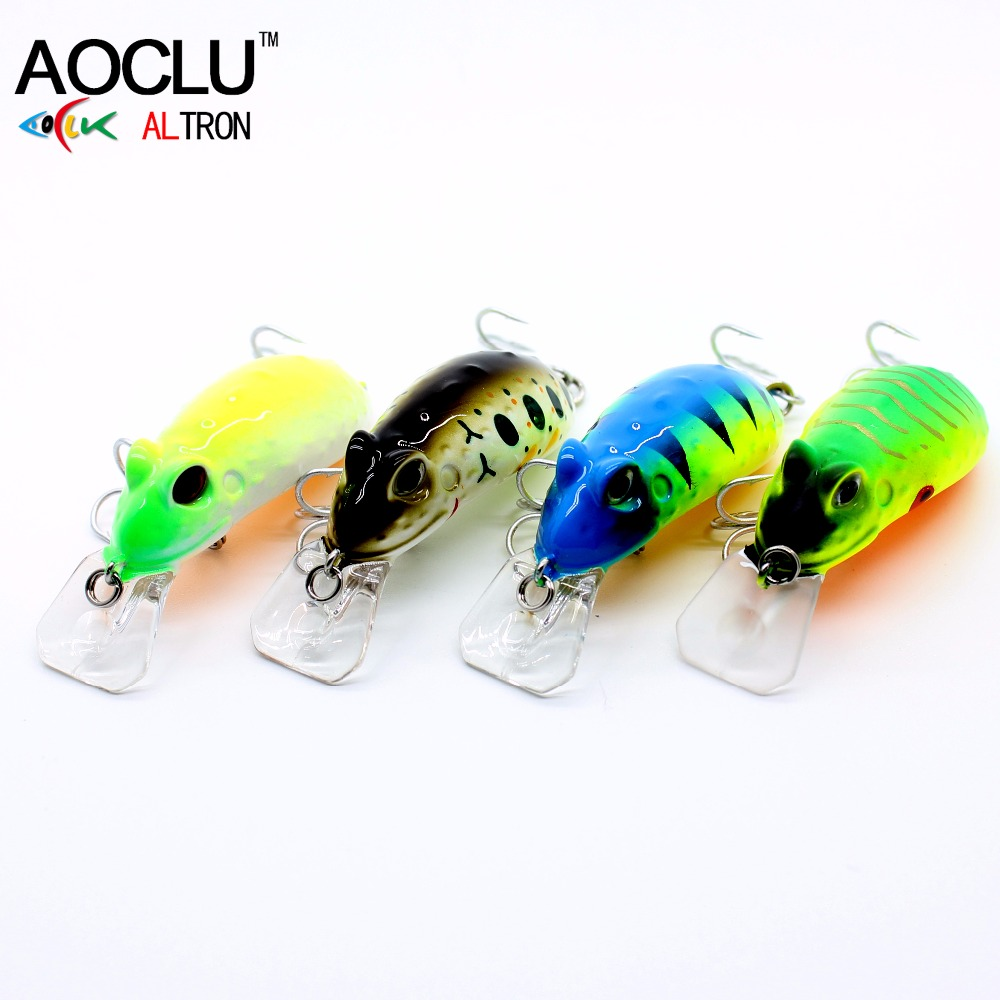 AOCLU frog wobblers Jerkbait 4 Colors 4 5cm 6 8g Hard Bait Small Minnow Crank Fishing lures top water tackle floating lure in Fishing Lures from Sports Entertainment