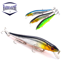 HAODIAOZHE 1Pcs/lot 14 cm 23g Fishing Lure Minnow Hard Bait with 3 Fishing Hooks Fishing Tackle Lure 3D Eyes Bass Pike Pesca YU8 цена