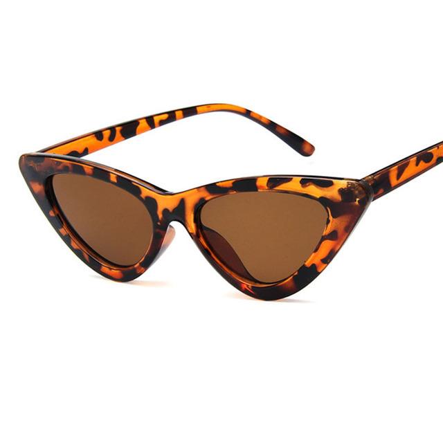 Gafas de sol de moda vintage retro triangular gafas de sol Sexy